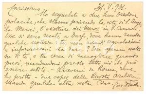 1931 BRESCIA Don Paolo GUERRINI su aiuto a suore polacche - AUTOGRAFO