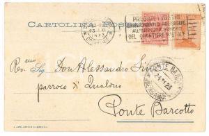 1923 BRESCIA Biblioteca Queriniana - Cartolina don Paolo GUERRINI - AUTOGRAFO