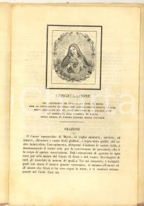 1843 ALBA (CN) Congregazione SS. Cuore di Maria - Statuto *DANNEGGIATO