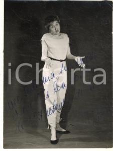 1960 ca FRANCE Jacqueline GIRAUDO fantaisiste comique - Photo AUTOGRAPHE