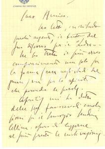 1925 ca s. l. On. Piero PISENTI sul discorso ufficiale di un amico - Autografo