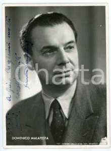 1950 ca LIRICA Baritono Domenico MALATESTA - Ritratto - Foto con AUTOGRAFO 10x15
