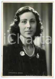 1946 LIRICA Soprano Fernanda INZANI - Ritratto - Foto con AUTOGRAFO 10x15