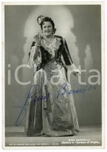 1945 ca LIRICA Soprano Gina BERNELLI