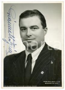 1943 MILANO Teatro alla Scala - Basso Giannetto ZINI - Foto con AUTOGRAFO 10x15