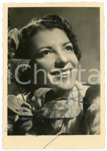 1943 LIRICA Soprano Augusta OLTRABELLA *Foto seriale con AUTOGRAFO 11x17 cm