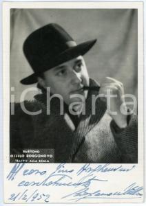 1952 MILANO Teatro alla Scala - Baritono Otello BORGONOVO - Foto AUTOGRAFO 10x15