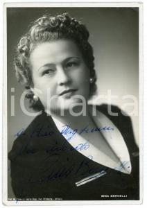 1945 ca LIRICA Soprano Gina BERNELLI - Ritratto - Foto con AUTOGRAFO 10x15