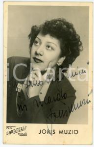 1945 ca MILANO Cantante Joris MUZIO - Foto BARATELLI con AUTOGRAFO