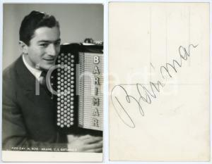 1950 ca Musicista BARIMAR (Mario BARIGAZZI) - Foto OLIVI con AUTOGRAFO