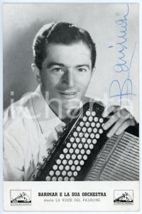 1950 ca Musicista BARIMAR (Mario BARIGAZZI) - Foto seriale con AUTOGRAFO