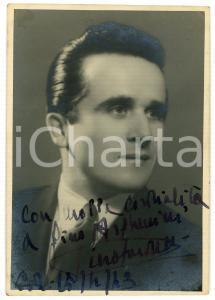 1943 LIRICA Tenore Piero SARDELLI - Ritratto - Foto con AUTOGRAFO 10x15