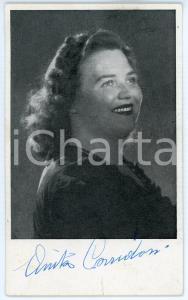 1950 ca COMO - LIRICA Anita CORRIDORI soprano *Cartolina seriale con AUTOGRAFO