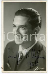1946 LIRICA Tenore Giuseppe DI STEFANO - Ritratto - Foto con AUTOGRAFO 9x14