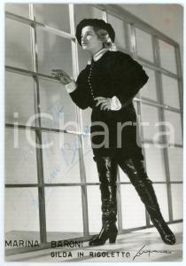 1955 ca LIRICA Marina BARONI - Gilda in