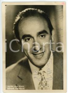 1956 MILANO Teatro alla Scala - Tenore Sergio VIANELLO - Foto 11x15 cm