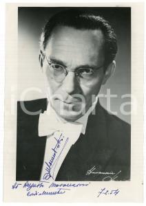 1954 Antonino VOTTO direttore d'orchestra - Foto con AUTOGRAFO 12x18 cm