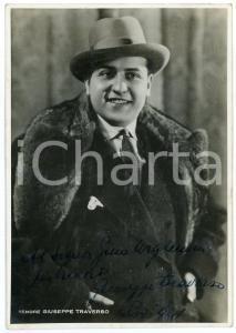 1941 LIRICA Tenore Giuseppe TRAVERSO - Ritratto - Foto con AUTOGRAFO 10x15
