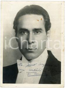 1945 ca Cantante Ernesto BONINO - Foto con AUTOGRAFO 18x24 cm