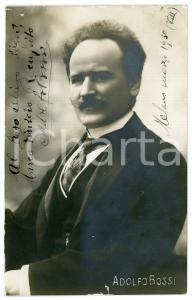 1930 MILANO Musicista Costante Adolfo BOSSI - Ritratto - Foto con AUTOGRAFO 9x14