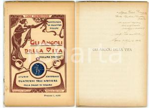 1933 MAZARA DEL VALLO Luigi FIORENTINO Gli angoli della vita - vol. I AUTOGRAFO