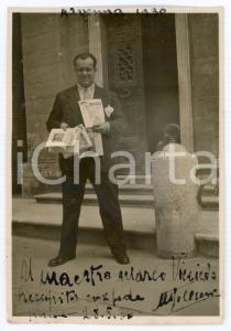 1930 RAVENNA Attore Ugo CESERI con riviste - Foto con AUTOGRAFO 6x8 cm