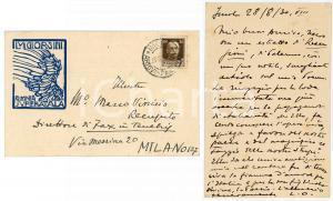 1919 MILANO Ada NEGRI promette visita all'amica Adele ASCHEI - AUTOGRAFO