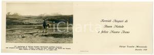 1930 MILANO Biglietto Edvige TOEPLITZ MROZOWSKA per auguri - AUTOGRAFO