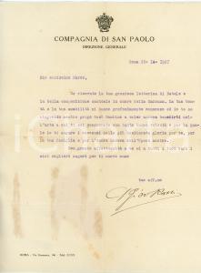 1927 ROMA Lettera don Giovanni ROSSI - COMPAGNIA S. PAOLO - AUTOGRAFO