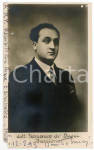 1930 ca MILANO Domenico de' NUCCI baritono - Foto con AUTOGRAFO