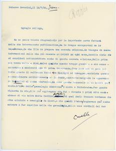1933 SIENA Lettera Alfredo CASELLA su opera musicale - AUTOGRAFO