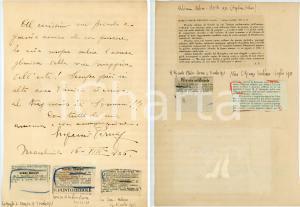 1926 MARCHIROLO Baritono Eugenio PERNA a un amico - AUTOGRAFO su rassegna