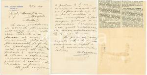1929 MILANO Lettera comm. Arturo DORDONI ringraziamento - AUTOGRAFO