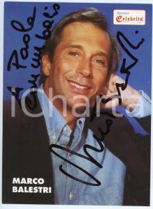 1990 ca TRECATE Celebrità - Marco BALESTRI - Foto seriale con AUTOGRAFO 11x15 cm