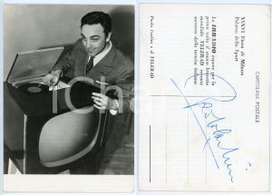 1958 Attore Paolo CARLINI con TELERAD IRRADIO- Foto seriale con AUTOGRAFO 10x15