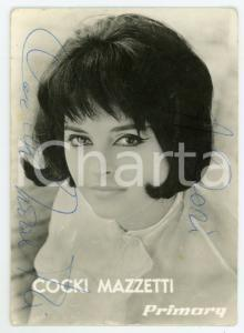 1965 ca Cocki MAZZETTI cantante - Foto seriale con AUTOGRAFO 7x10 cm