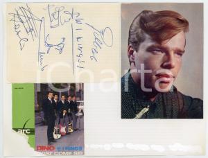 1965 ca DINO (Eugenio ZAMBELLI) e i KINGS  - Collage foto con AUTOGRAFI