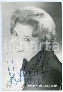 1960 ca Cantante Wilma DE ANGELIS - Foto seriale PHILIPS con AUTOGRAFO