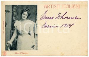 1901 TORINO Tina DI LORENZO attrice - Cartolina postale con AUTOGRAFO