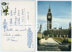 1965 ca LONDON Carlo FRANCI direttore d'orchestra - Cartolina AUTOGRAFA