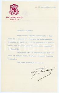 1965 BARI Auguri di mons. Reginaldo ADDAZI arcivescovo di Trani *Autografo