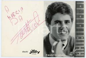 1965 ca Cantante Fausto LEALI - Foto con AUTOGRAFO Dischi JOLLY