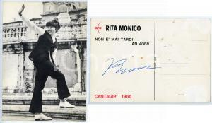 1966 Cantante Rita MONICO - Foto seriale CANTAGIRO con AUTOGRAFO