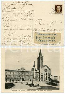 1943 PIACENZA Cartolina mons. Ersilio MENZANI vescovo - AUTOGRAFO
