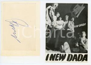 1965 ca MUSICA ITALIA - NEW DADA Gruppo musicale - Collage foto con AUTOGRAFI