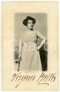 1900 ca TEATRO ITALIA Virginia REITER attrice - Cartolina postale con AUTOGRAFO