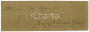 1940 ca REGIO ESERCITO Generale Ubaldo SODDU - Biglietto AUTOGRAFO