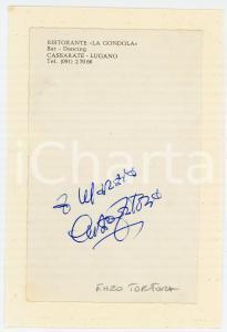 1970 ca LUGANO CASSARATE Enzo TORTORA - Autografo su biglietto