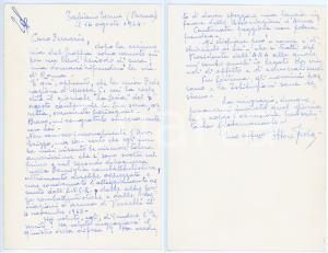 1964 TABIANO TERME Lettera Ettore VIOLA DI CA' TASSON pro ANCR - AUTOGRAFO