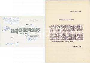 1964 TORINO Partito Liberale - Lettera Valerio ZANONE - AUTOGRAFO